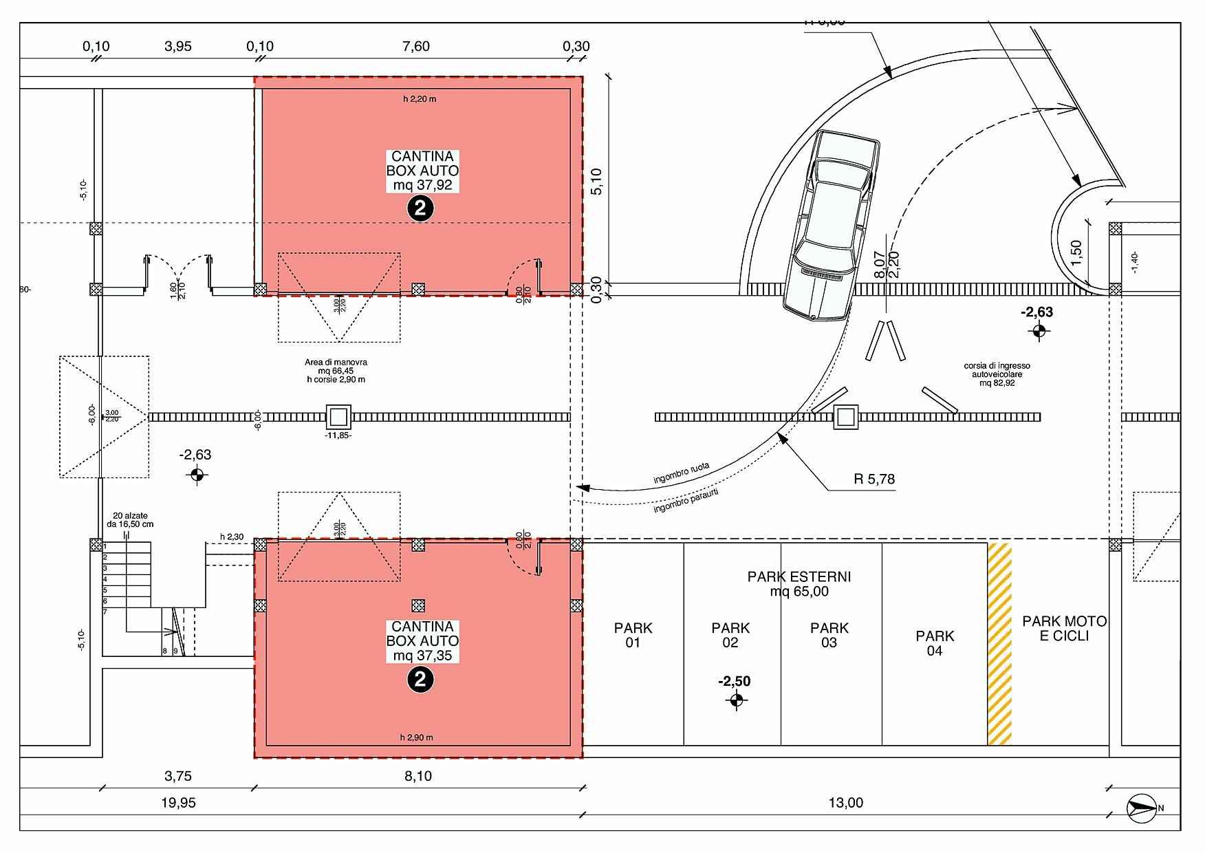 Casa 60 Mq Pianta villetta a schiera - casa 2 - rigatelli costruzioni