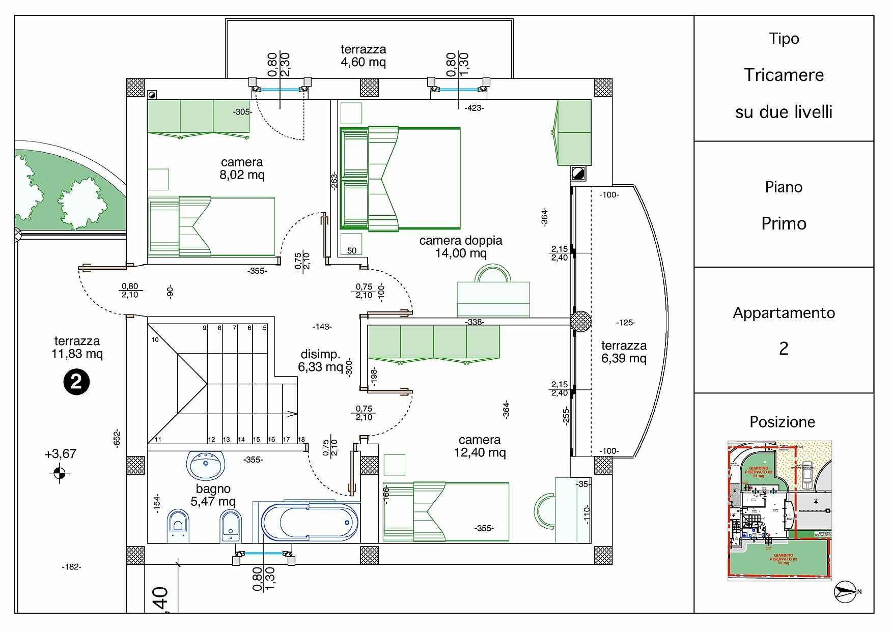 Villetta a schiera casa 2 rigatelli costruzioni for Planimetrie della casa a schiera