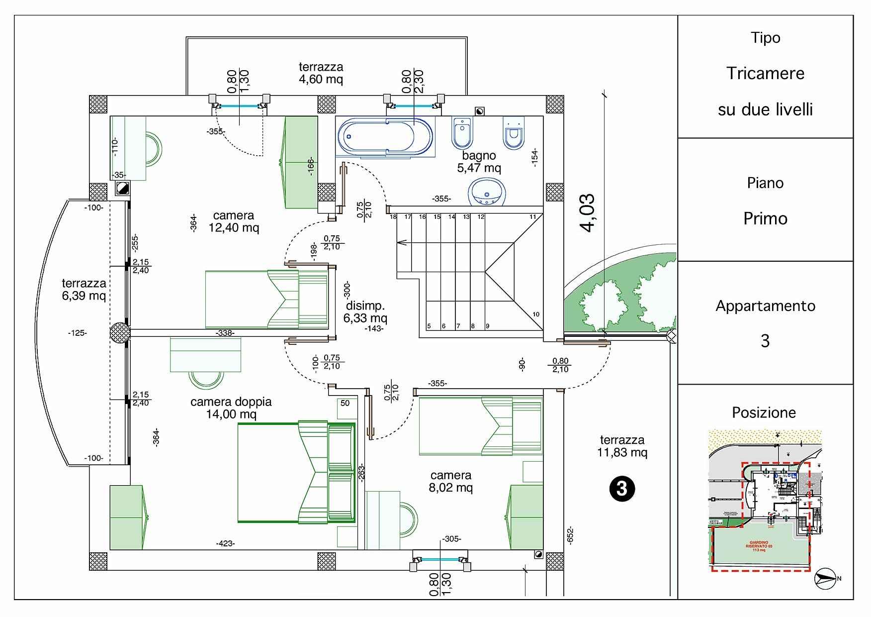 Villetta a schiera casa 3 rigatelli costruzioni for Planimetrie della casa a schiera